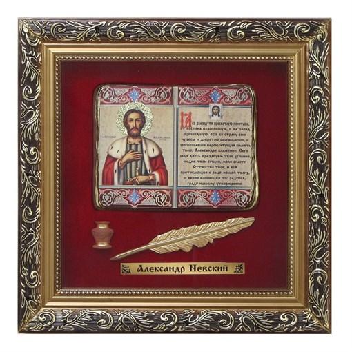 Православное панно Александр Невский бол. багет ПР-24-Б - фото 186496
