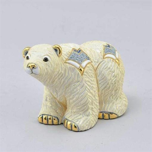 Статуэтка керамическая Полярный медведь DR-F-163 - фото 186522