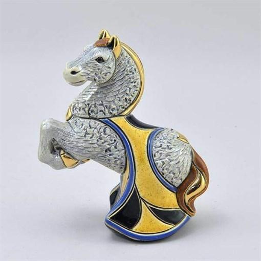 Статуэтка керамическая Лошадь серая DR-F-165-G - фото 186523