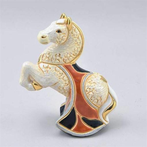 Статуэтка керамическая Лошадь белая DR-F-165-W - фото 186524