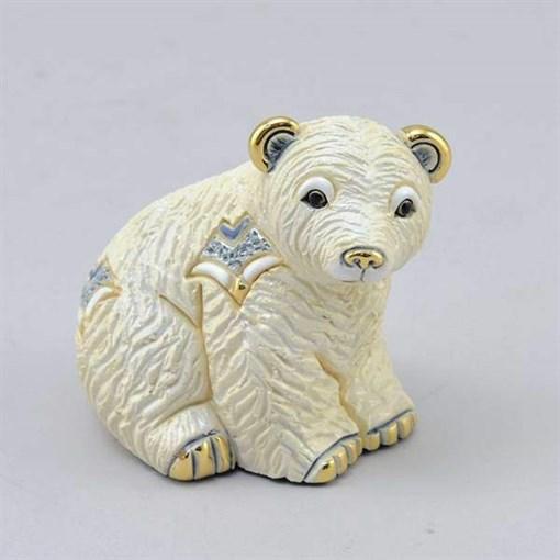 Статуэтка керамическая Медвежонок полярный DR-F-363 - фото 186529
