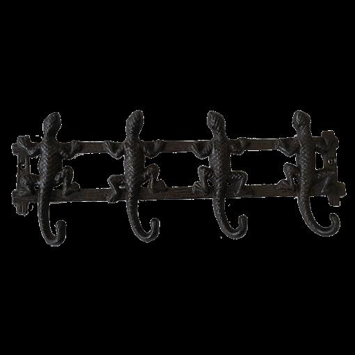 Вешалка настенная Ящерки, 4 крючка YM-HK-6431 - фото 186855