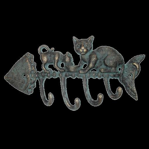 Вешалка настенная Вкусная Рыбка, 4 крючка YM-HK-5503-S - фото 186876