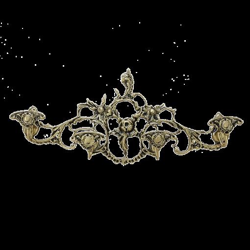 Вешалка настенная на 4 крючка, золото BP-29052-D - фото 186921