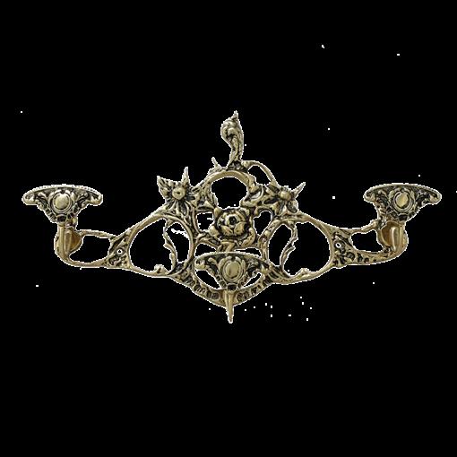 Вешалка настенная 3 крючка средняя, золото BP-29053-D - фото 186922