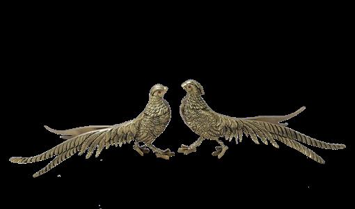 Статуэтка Фазаны пара, золото BP-12002-D - фото 186924