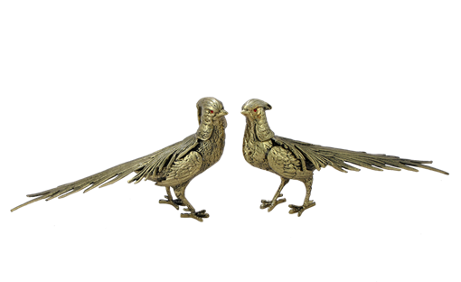 Статуэтка Фазаны пара, золото BP-12010-D - фото 186925