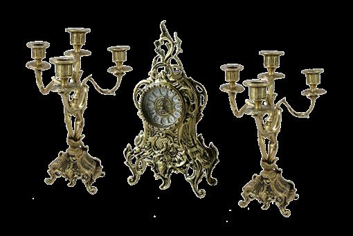 Каминные часы с канделябрами Тюильри BP-25090 - фото 186939