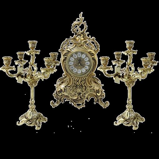 Каминные часы с канделябрами  Лимож BP-95620 - фото 186940