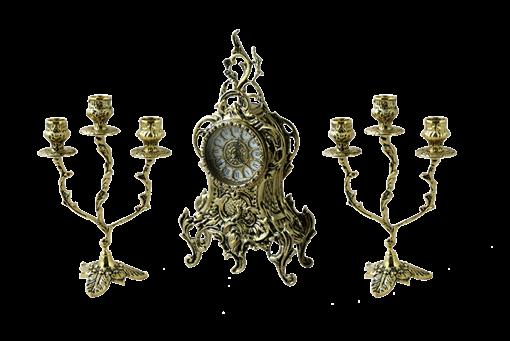 Каминные часы с канделябрами  Боско BP-25046 - фото 187016