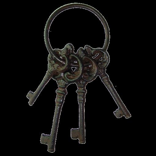 Вешалка крючок для одежды настенная Ключи YM-KR-0624 - фото 187402