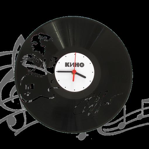 Часы виниловая грампластинка  Цой. Кино WL-10 - фото 187477
