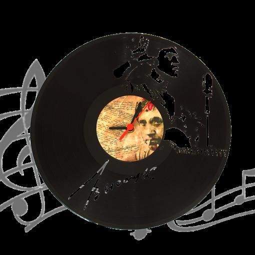 Часы виниловая грампластинка  В. Высоцкий WL-21 - фото 187488