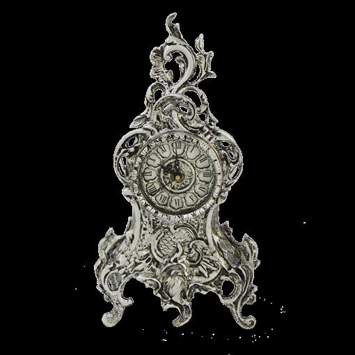 Часы Ласу каминные бронзовые с покрытием  серебро BP-28025-S - фото 187541