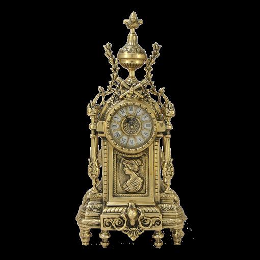 Часы  Дон Луи  c женским профилем каминные бронзовые BP-27018-D - фото 187547