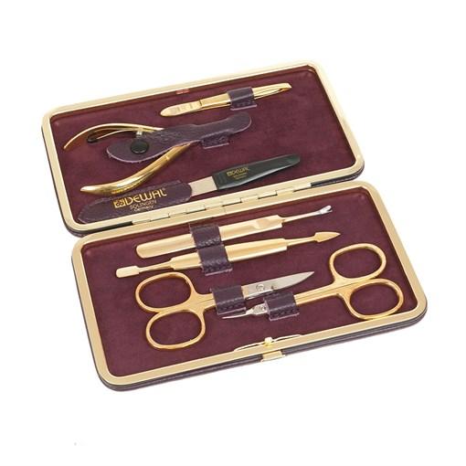Маникюрный набор Dewal 7 предметов в футляре 504CR - фото 188583