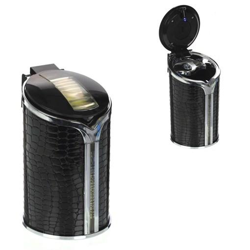 Пепельница с подсветкой для автомобиля в подстаканник, L6,5 W6,5 H11,5 см - фото 197047