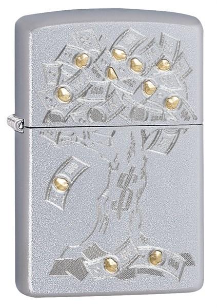 Зажигалка Zippo Money Tree Design с покрытием Satin Chrome 29999 - фото 198019