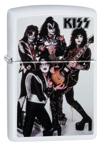 Зажигалка Zippo KISS® с покрытием White Matte 49017 - фото 198025