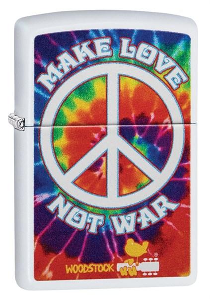 Зажигалка Зиппо (Zippo) Woodstock® с покрытием White Matte 49013 - фото 198031