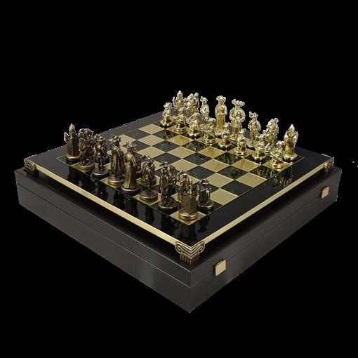 Шахматы бронзовые Рыцари Средневековья MP-S-12-C-44-GRE - фото 199908