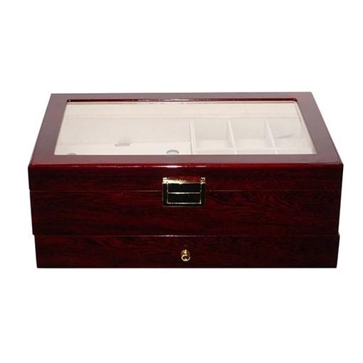 Шкатулка для часов, очков и украшений, L34 W21 H13 см - фото 200895