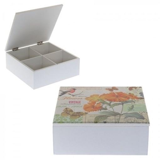 Шкатулка для чайных пакетиков, L18 W18 H7см 608497 - фото 201374