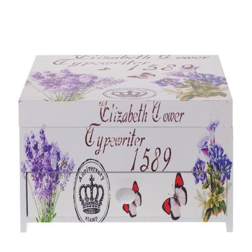 "Шкатулка для украшений ""Цветы"", L17 W15 H11,5 см - фото 204028"