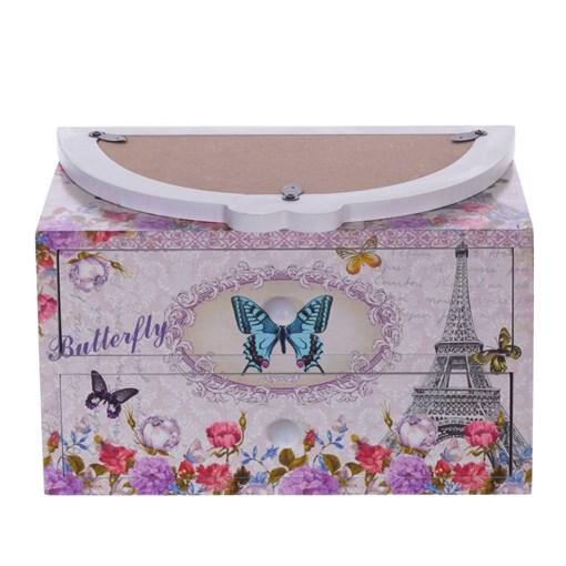 """Шкатулка """"Бабочки"""", L19,5 W11,5 H24 см - фото 204047"""