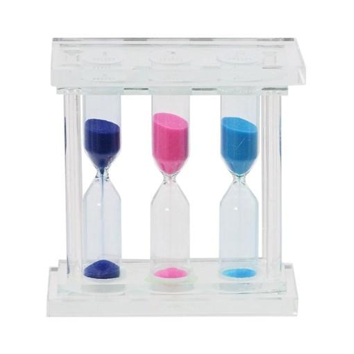 Часы песочные (1/3/5 мин.), L10 W4 H10 см - фото 204378