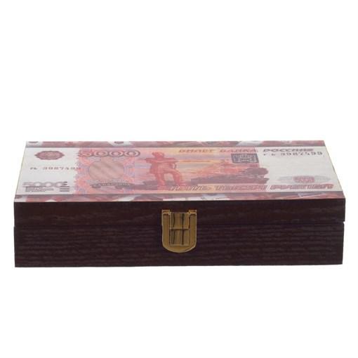 Шкатулка для денег, L19 W11 H4 см 726199 - фото 204793