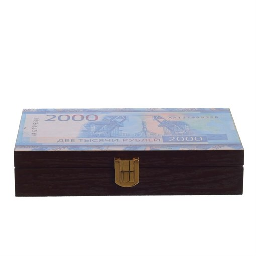 Шкатулка для денег, L19 W11 H4 см 726201 - фото 204797