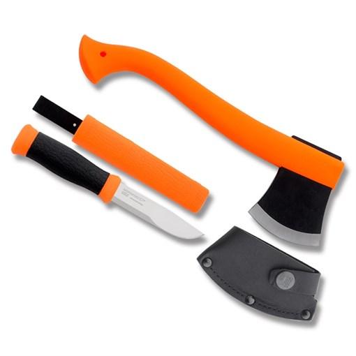 Набор Morakniv Outdoor Kit MG, нож Mora 2000 + топор (оранжевый) - фото 209248