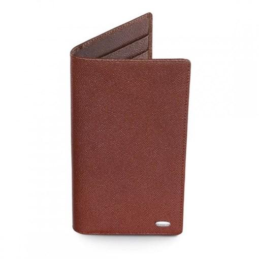 Бумажник в карман жилета, вертикальный, супертонкий коричневый - фото 251262
