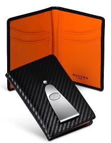 Бумажник вертикальный с клипом для денег Continental, черный, оранжевый, 110 x 75 x 8 мм - фото 251265