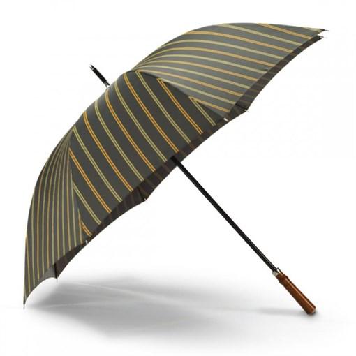 Зонт-трость спортивный, полоска зеленая - фото 251291