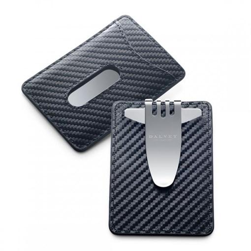 Кредитница с клипом для денег, черная - фото 251299
