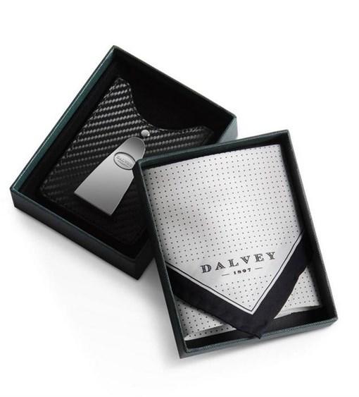 Набор подарочный: Футляр для кредитных карт с клипом для денег с шёлковым платоком - фото 251313