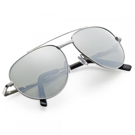 """Очки солнечные """"Авиатор"""", зеркальные стекла, в  кожаном футляре - фото 251319"""