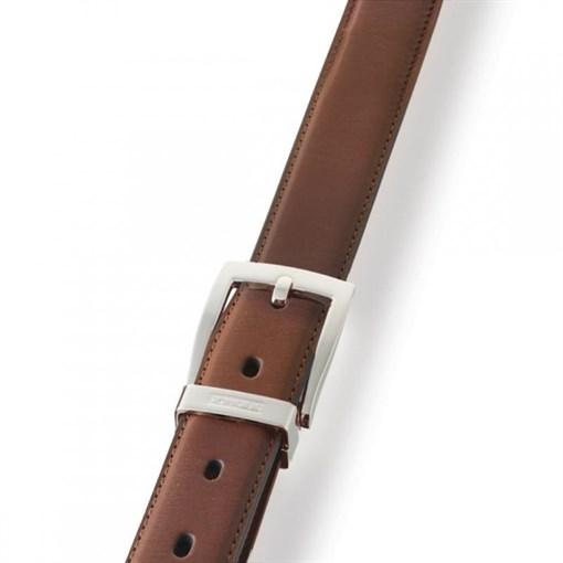 Ремень классический, коричневый, матовая кожа - фото 251336