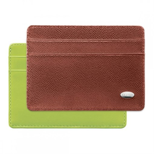Футляр для кредитных карт коричневый/зеленый - фото 251348