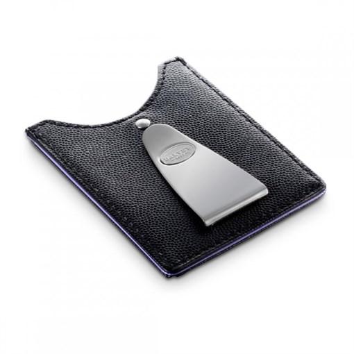 Футляр для кредитных карт с клипом для денег, со вставкой стального цвета,  пурпурная отделка - фото 251350