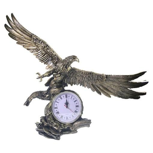 Часы настольные Орел расправил крылья цвет: золото L30W66.5H56 см - фото 251631