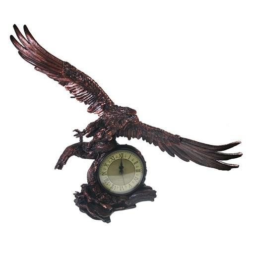 Часы настольные Орел расправил крылья цвет: медь L30W66.5H56 см - фото 251633