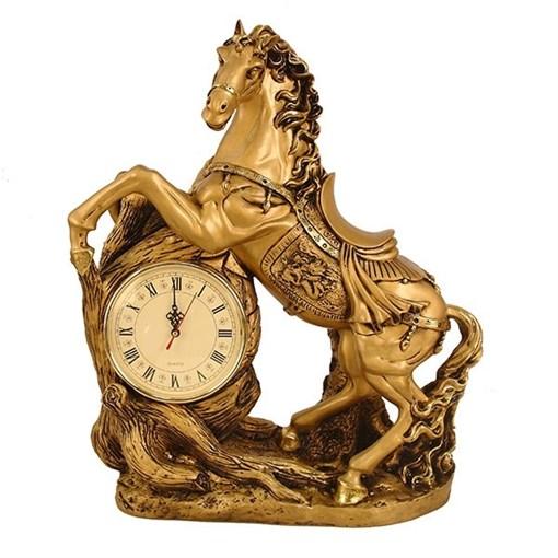 Часы настольные Конь цвет: золото L48W22H55 см - фото 251637