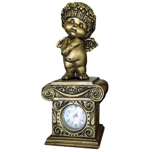 Часы настольные Ангел-I цвет: сусальное золото Н25.5 см - фото 251643
