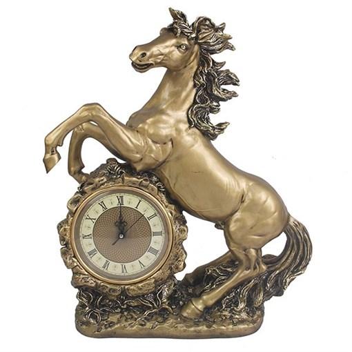Часы настольные Конь цвет: золото L39W17H51 см - фото 251646