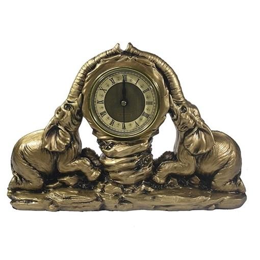 Часы настольные Два слона цвет: золото L30W7H20 см - фото 251648