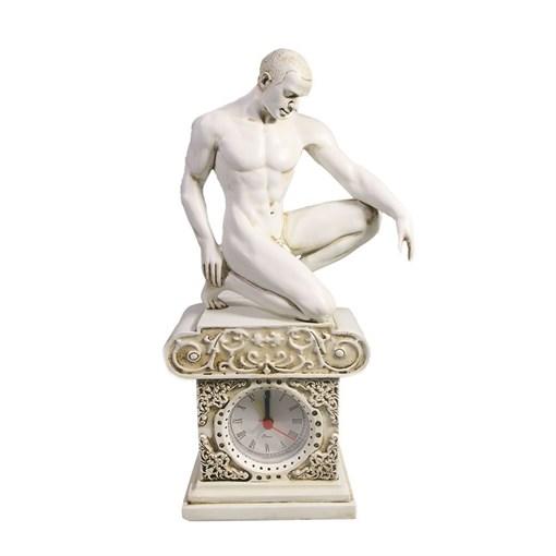 Часы настольные Атлет  цвет: белый L11.5W7.5H26.5 см - фото 251656