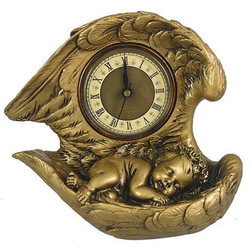Часы настольные Ангел цвет: золото L20W10H18 см - фото 251661